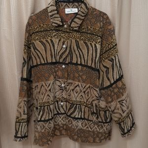 Mixed Animal Print Tapestry Vintage Jacket